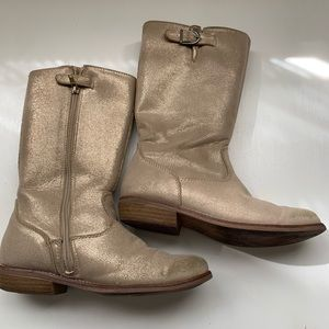 Gold Riding boots by Hanna Anderson Size 3